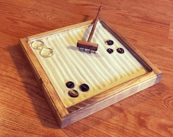 Custom Handmade Zen Garden Kit - Mini Zen Garden Tabletop Counter Office Home