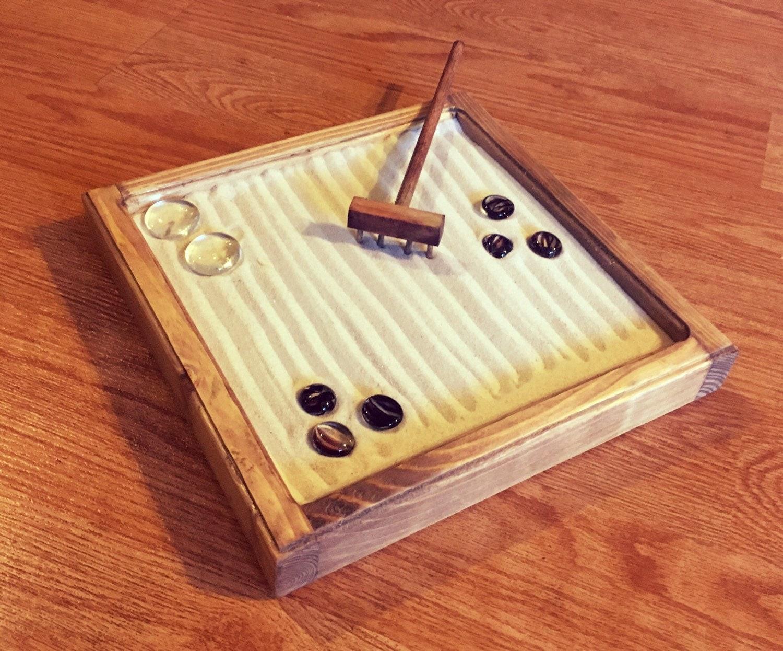 Custom Handmade Zen Garden Kit Mini Zen Garden Tabletop