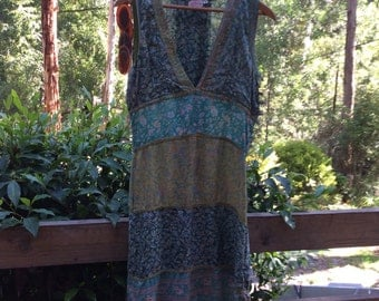 Stunning vintage dress in sheer rayon....feels like silk
