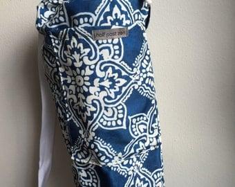 Yoga Mat Bag - Indigo Henna Floral Yoga Bag