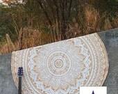 Gold roundie  boho mandala blanket