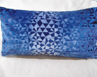 Designers Guild Velvet Fabric Voyssey Indigo Cobalt Cushion Cover