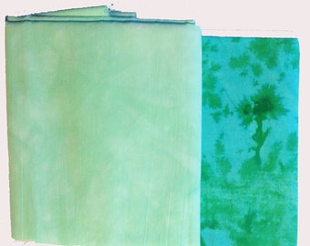 Hand Dyed Fabric Mix 08