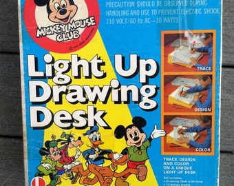 ON SALE! Unopened Vintage Mickey Mouse Club Light Up Drawing Desk Art Toy