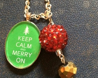 Keep Calm and Merry On Necklace