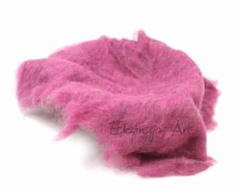 Wool cloud, PINK MELANGE, filling the baskets, newborn photo prop, woolen fluff