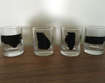 Custom made shot glasses