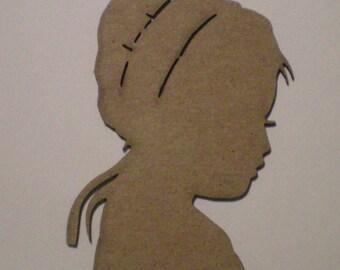 Little Girl with Bonnet Chiboard Embellishment