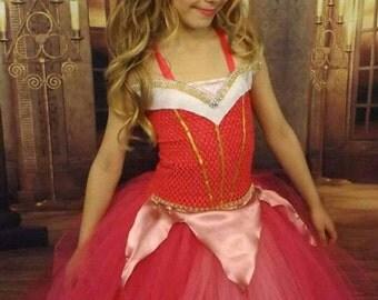 Sleeping Beauty inspired tutu dress, pink princess costume, Princess dress,  Princess tutu dress, pink tutu