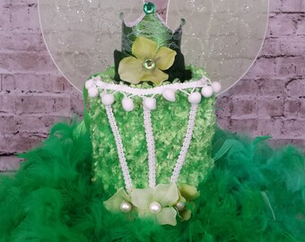 Tinkerbell tutu dress, tinkerbell dress, tinkerbell costume, green feather dress, green fairy dress, tinkerbell birthday tutu feather dress
