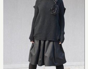 Slouchy wool sweater, outerwear her, slouchy sweatshirt, wool poncho women, loose knit sweater, oversize sweater, outerwear, loose sweater