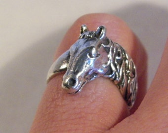 Sterling Silver Horse Ring