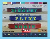 Personalized Puppy Collars - Custom made Leather Puppy Collars with name - Unique Puppy  Collars made in USA - Free shipping in USA