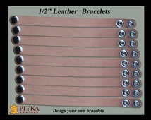 Blank Leather Bracelets Wholesale - Tooling leather Bracelets with Snaps - Natural Blank Leather Bracelets for Tooling -  Youth Group Lot