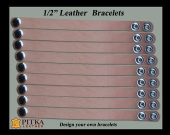 Blanks Leather Bracelets Wholesale - Tooling Leather Bracelets with Snaps - Natural Blanks Leather Bracelets for Tooling -  Youth Group Lot