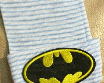 BATMAN Newborn Hospital Hat! 1st Keepsake! 1st Hat! Newborn Hospital Hat! Great Gift! Super Cute!