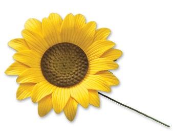 Gum Paste Sunflower | Sunflower Cake Topper | Edible Sunflower Flower | Wedding Cake Toppers | Sunflower Cake Adornment