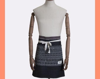 BROWN DEMIN APRON