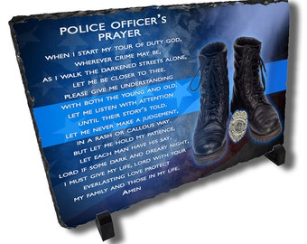 Police Officers Prayer Stone
