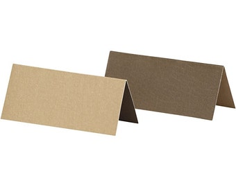 25 x Brown Place Cards