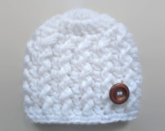 Crochet baby hat, newborn crochet hat, baby boy hat, white baby hat, newborn boy hat, baby boy beanie, crochet baby boy hat, baby hat