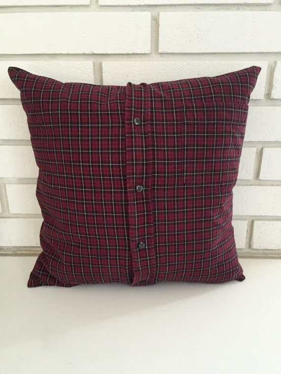 Items similar to Red and Green Flannel Throw Pillow Cover on Etsy