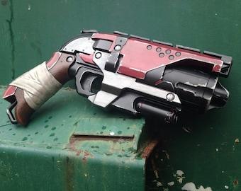 "Custom Painted Nerf Hammershot ""Bloodoath"" Sidearm"