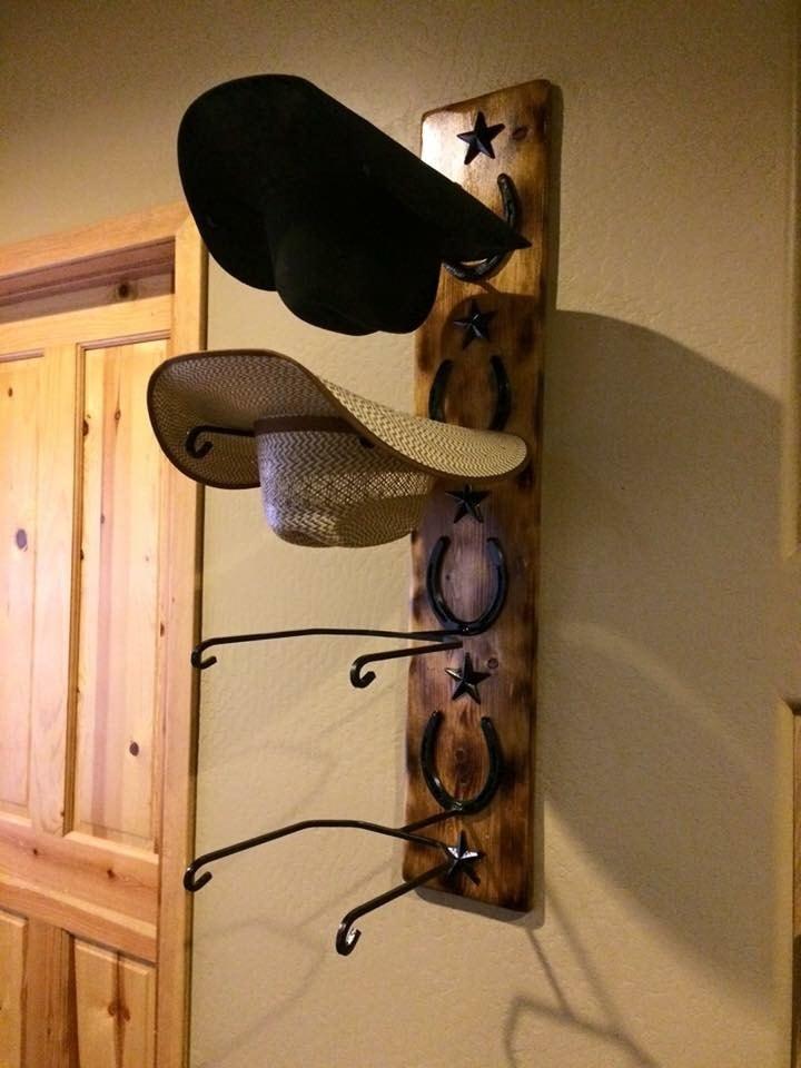 Custom cowboy hat rack - Perchero para sombreros ...