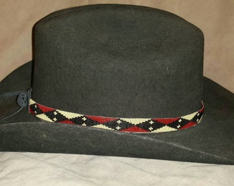 Ribbon of Angles Hand Beaded Hat Band