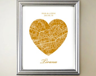 Tirana Heart Map