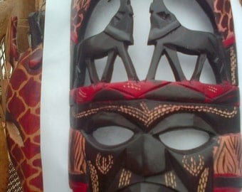 African wooden mask no 6