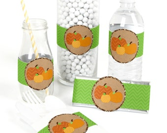 15 Pumpkin Patch - Party Favor Wrappers - Party Supplies