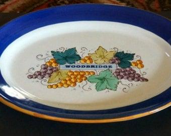 Vintage Woodbridge Handpainted Platter