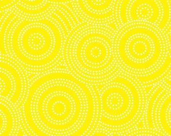 Max and Bunny- 7527-Y - Dotted Circles White on Yellow Background- Andover- 1 Yard