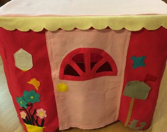 Cute card table playhouse