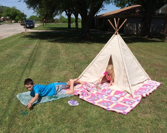 Large Natural Canvas teepee