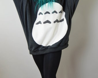 Batwing Oversized Totoro Sweater