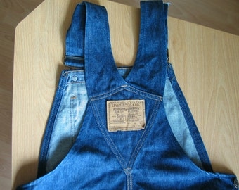 True vintage rare ls & co LEVI'S big E overall jeans 1960's. Made in the USA