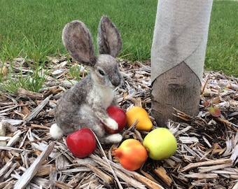 Needle felted Cottontail Rabbit, Bunny