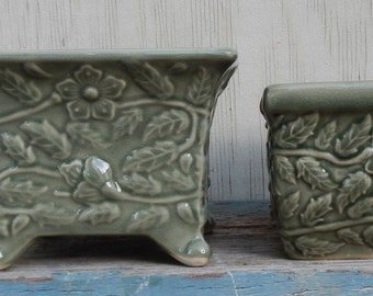 Pretty Pair of Matching Planters!
