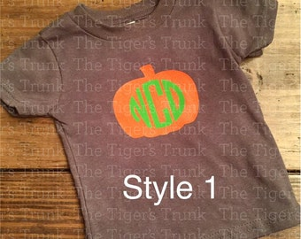Youth Personalized Pumpkin T-Shirts