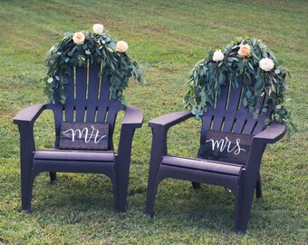 Mr. and Mrs. seating signs; Wooden Signs, Rustic