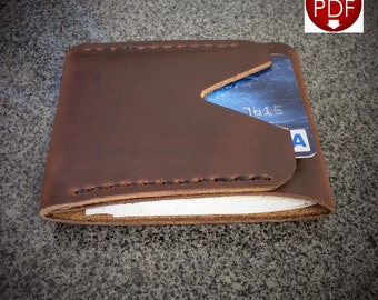 PATTERN - Leather Wallet Pattern / Leathercraft Pattern / Wallet Pattern / Leather pattern / DIY Pattern