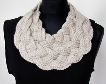 Double Layered Braided Cowl. Handmade cowl, cowl, crochet cowl