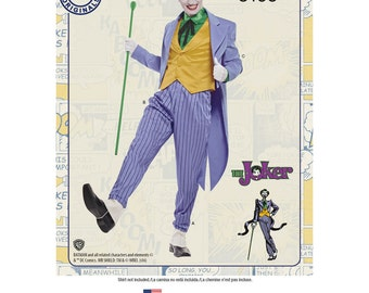 Simplicity Sewing Pattern 8195 Men's D.C. Comics Joker Costume