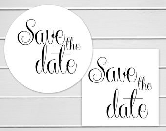 Save the Date Stickers, Save the Date Envelope Seals, Save The Date Stickers (#151)