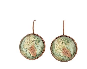 Charleston Map Earrings
