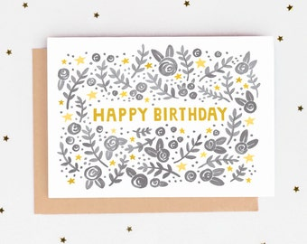 Folk Pattern Birthday Card