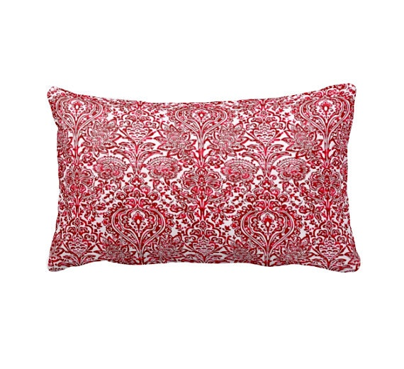 Dimensions Of Throw Pillow : 7 Sizes Available: Red Decorative Throw Pillow Cover Red