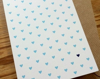 MANY MINI HEARTS Card